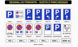 SEGNALI DI FERMATA - SOSTA - PARCHEGGIO