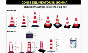 CONI E DELINEATORI IN GOMMA
